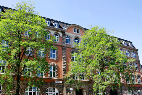 The picture shows the building at Allende-Platz 1.