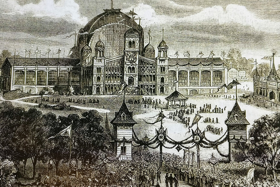 Historical image of the exhibition hall.