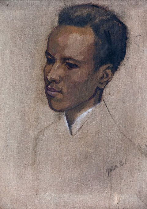 Portrait of the Somali instructor Mohammed Nuur, unknown artist, 1921