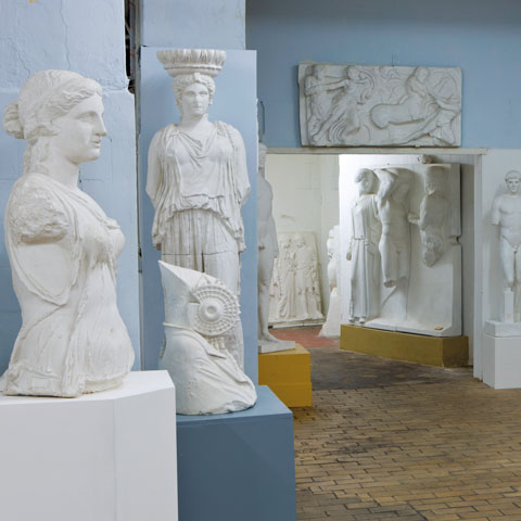 Statues from the Archaeological Institute's plaster cast collection, 2012