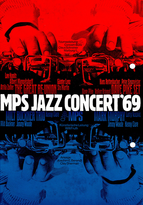 Flyer from MPS Jazz Concert 69 at audimax.