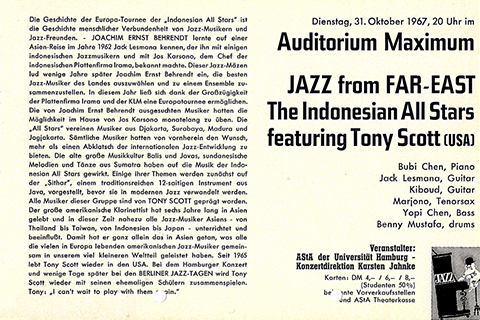 Flyer from Jazz from Far-East concert.