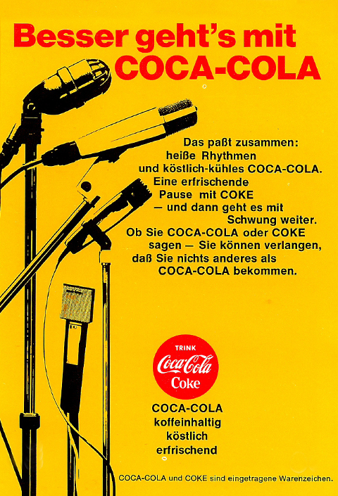 Advertisement for coca cola