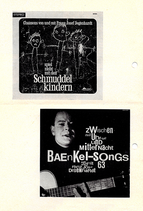 Flyer from a concert by Karl Josef Degenhart