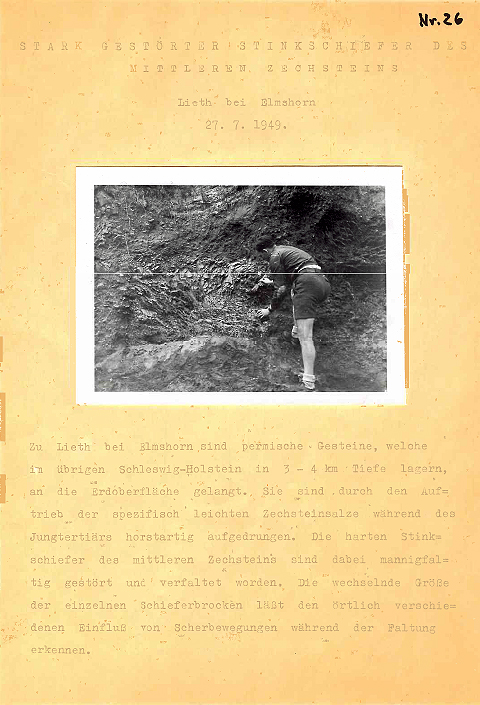 Piece from the Lackfilm catalogue which shows the making of a lackfilm and informations about the rocks