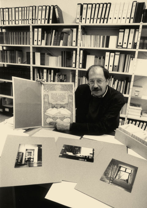 Eckart Krause in his library, 1993