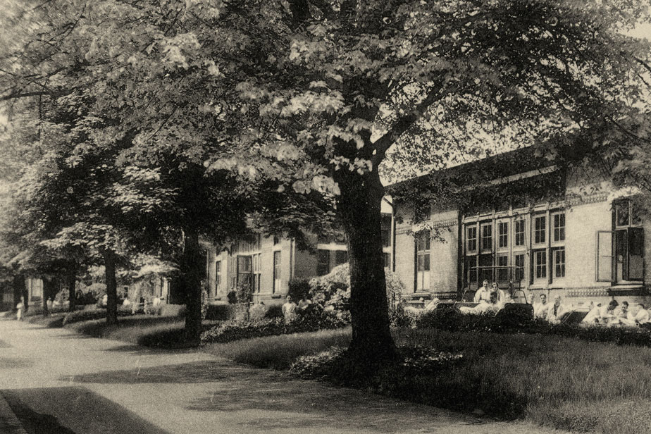Pavilions at the Eppendorf hospital, around 1900