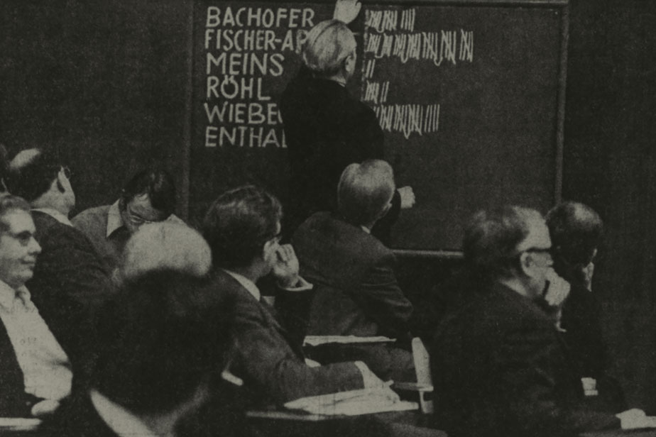 Election of the first University president in Hamburg, 1966