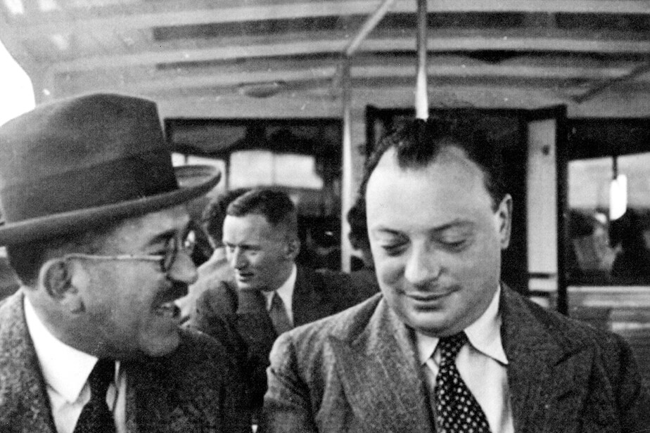 Otto Stern and Wolfgang Pauli in Zürich, ca. 1935