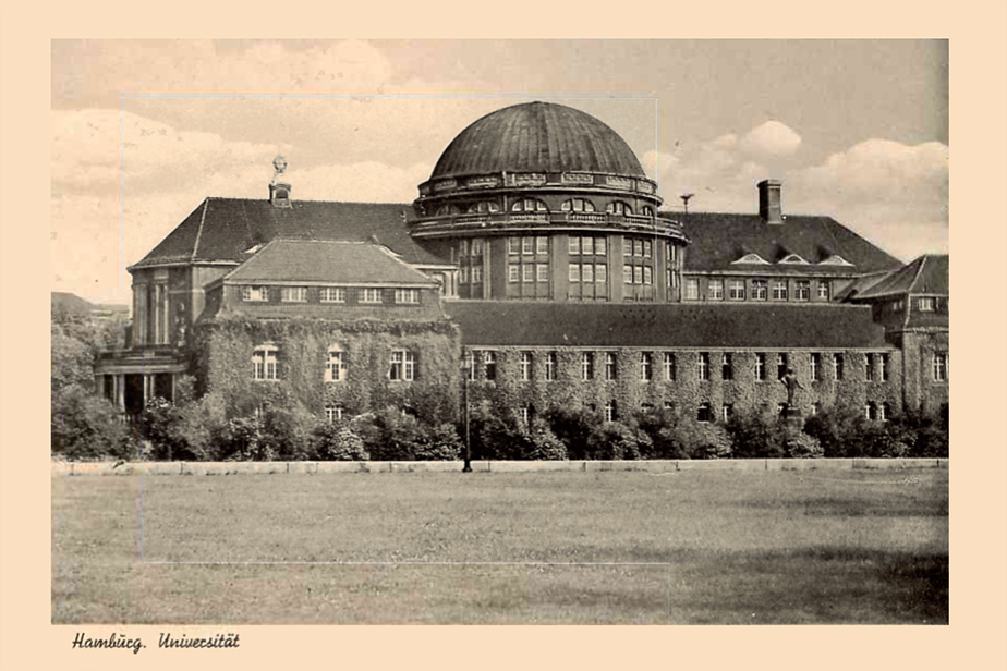 Postcard of the Main Building in the 1950s